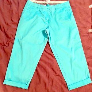 3/$10 Crown & Ivy Turquoise Capri Pants